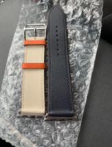 Apple Watch Hermes Vaux Swift Simple Tour Indigo Cle Orange Strap Out of Print - $583.10