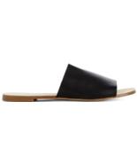 New JustFab Maloa in Black Open Toed Flats US Size 11 - $25.55