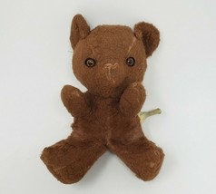 "8 ""vintage knickerbocker brown teddy bear stuffed animals of distinction - $36.10"