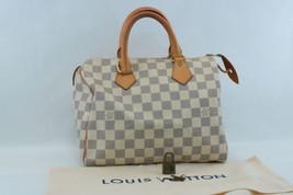 Louis Vuitton Damier Azur Speedy 25 Hand Bag N41534 Lv Auth 7994 - $598.00