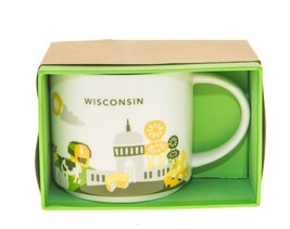 Starbucks You are Here Wisconsin 1 version Yellow Chair Coffee City Mug 14Oz - $69.29