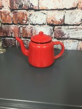FALCON RED ENAMEL TEA POT WITH HANDLE & LID TEAPOT - CAMPING  - $13.93