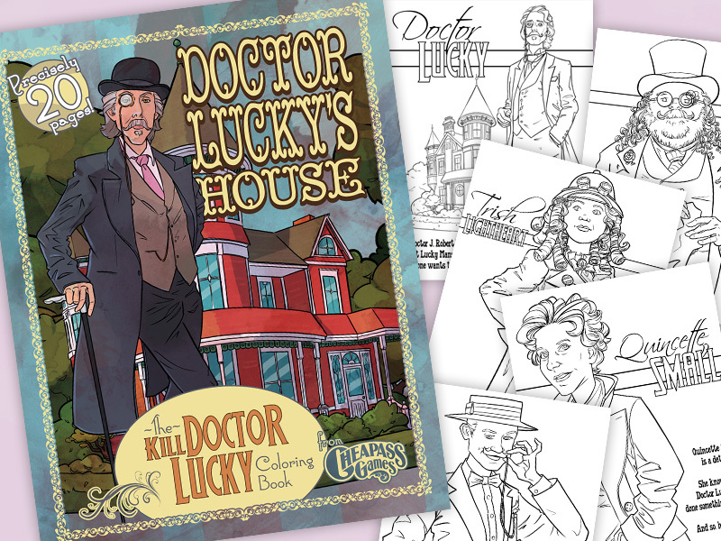 "Cheapass Games ""Get Lucky"" Lucky Mansion Coloring Book"