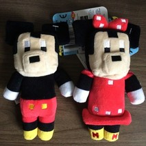 2 Disney Crossy Road Series 1 6 inch Stuffed Figures Minnie Mouse + Micky Mouse - $11.87