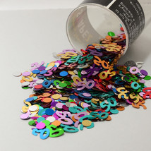 Number 50 and Circles Multicolor Confetti Bag 1/2 Oz Birthday Party CCP9004 - $3.95+