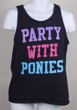 Party With Ponies Sleeveless Pink Purple Tank Top T Shirt Tee Size M Brony - $14.84