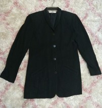 Vintage Anne Klein II Blazer Women's Size 6 Medium Length Coat Jacket US... - $29.69