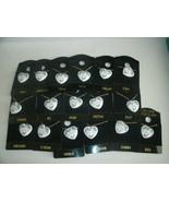 "Genuine Porcelain Heart Necklace Chain Personal B Thru J NAMES 16"" Women... - $9.50"