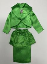 VTG Original Barbie THEATER DATE  Jacket & Skirt ONLY Green Satin 2 Piec... - $24.69