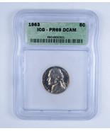 1963 Jefferson Nickel ICG PR69 DCAM Low Population!!! - $200.00