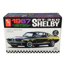 Skill 2 Model Kit 1967 Ford Mustang Shelby GT350 Black 1/25 Scale Model ... - $40.24