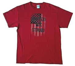 Collectible United We Stand Short Sleeve T-Shirt with Flag Graphic Red S... - $7.99