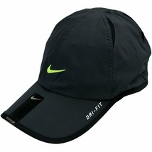 NEW! Nike Unisex FeatherLight Tennis Hat-Charcoal/Volt - $395.88