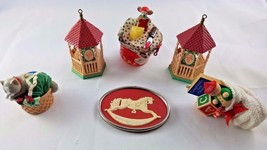 Lot of 6 Mouse Mice Christmas Ornaments- Hallmark + - $12.35