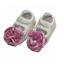 [Beige] Creative and Cute Baby Girls Socks Low Cut Socks, 2 Pairs image 2