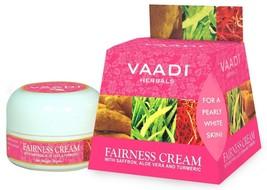 Vaadi Herbals Fairness Cream, Saffron Aloe Vera and Turmeric | 30g Free ... - $10.45