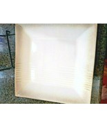 4 Plates ~ Pier 1 One Imports ~ Embossed Cream Pattern Large Square Dinn... - $44.50