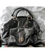 COACH Francine Black Leather Dome Satchel Bowlers Bag Retail $898 - $148.50