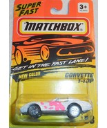 1995 Matchbox Super Fast Corvette T-Top Collector #58 Mint On Sealed Card - $4.00