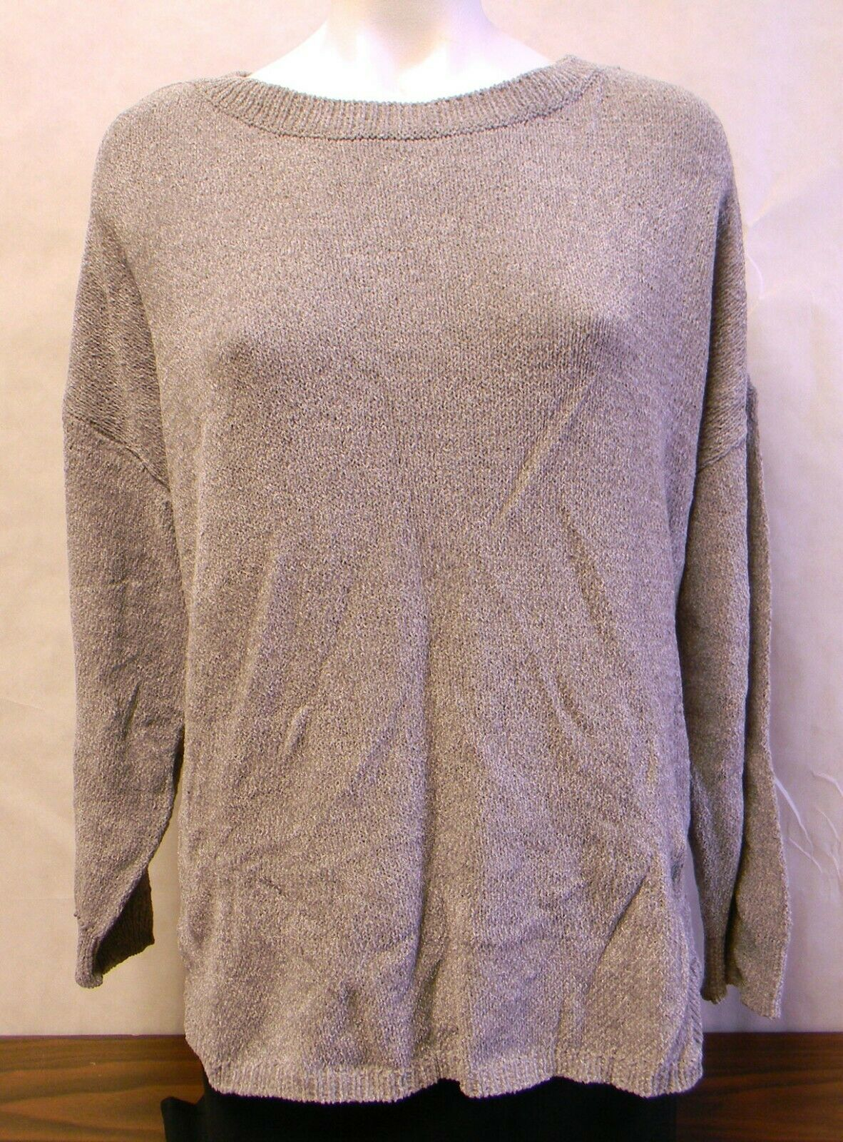 Primary image for Women's Ellen Tracy Knitted Mineral Tweed Gray Sweater Size XXL Long Sleeve