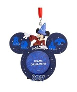 Disney Parks 2017 Mickey Mouse Sorcerer Frame Christmas Ornament New with Tag - $23.99