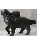AC Williams original large cast iron St Bernard Dog with pack excellent - $125.00