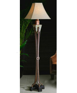 Arts and Crafts Standing Floor Lamp Copper Slate 66 Mission Bungalow Out... - $477.40