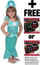 Mermaid: Role Play Costume + Melissa & Doug Scratch Art Mini-Pad Bundle [85014] - $33.41