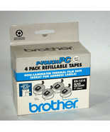 """Brother P-Touch PC RX-1514 1"""" x 50' Black on Clear Thermal Film Tape 4 p... - $21.98"""