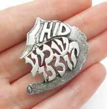 FINKEL'S 925 Sterling Silver - Vintage Dark Tone Etched Brooch Pin - BP4645 - $31.84