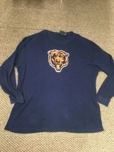 Chicago Bears Football Blue Long Sleeve Thermal Shirt Size 4X - $14.84