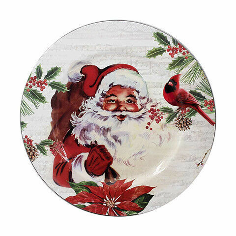 Primary image for Darice Christmas Charger Plate: Santa, 13 inches w