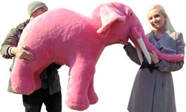 American Made Giant Stuffed Pink Elephant Huge 54 Inches Long 3 Feet Tall New - $297.11