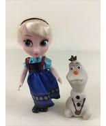 "Disney Animator Frozen Anna Olaf Petite Toddler 6"" Doll Princess 2019 Ja... - $17.77"