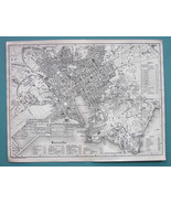 1874 MAP BAEDEKER City Plan - FRANCE Marseille - $12.15