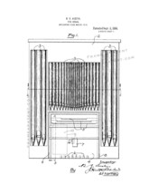 Pipe Organ Patent Print - White - $7.95+