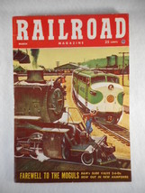 Vintage Railroad Magazine March 1954 Train on Cover - $12.82