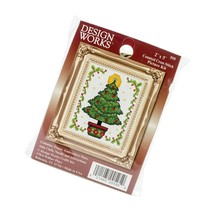 Christmas Tree Ornament Counted Cross Stitch Kit, 2-Inch X 3-Inch - $18.99