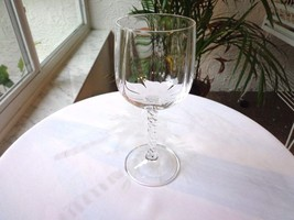 Set of 5 Cris D' Arques Nemours Pattern Clear Crystal Red Wine Glasses - $24.75