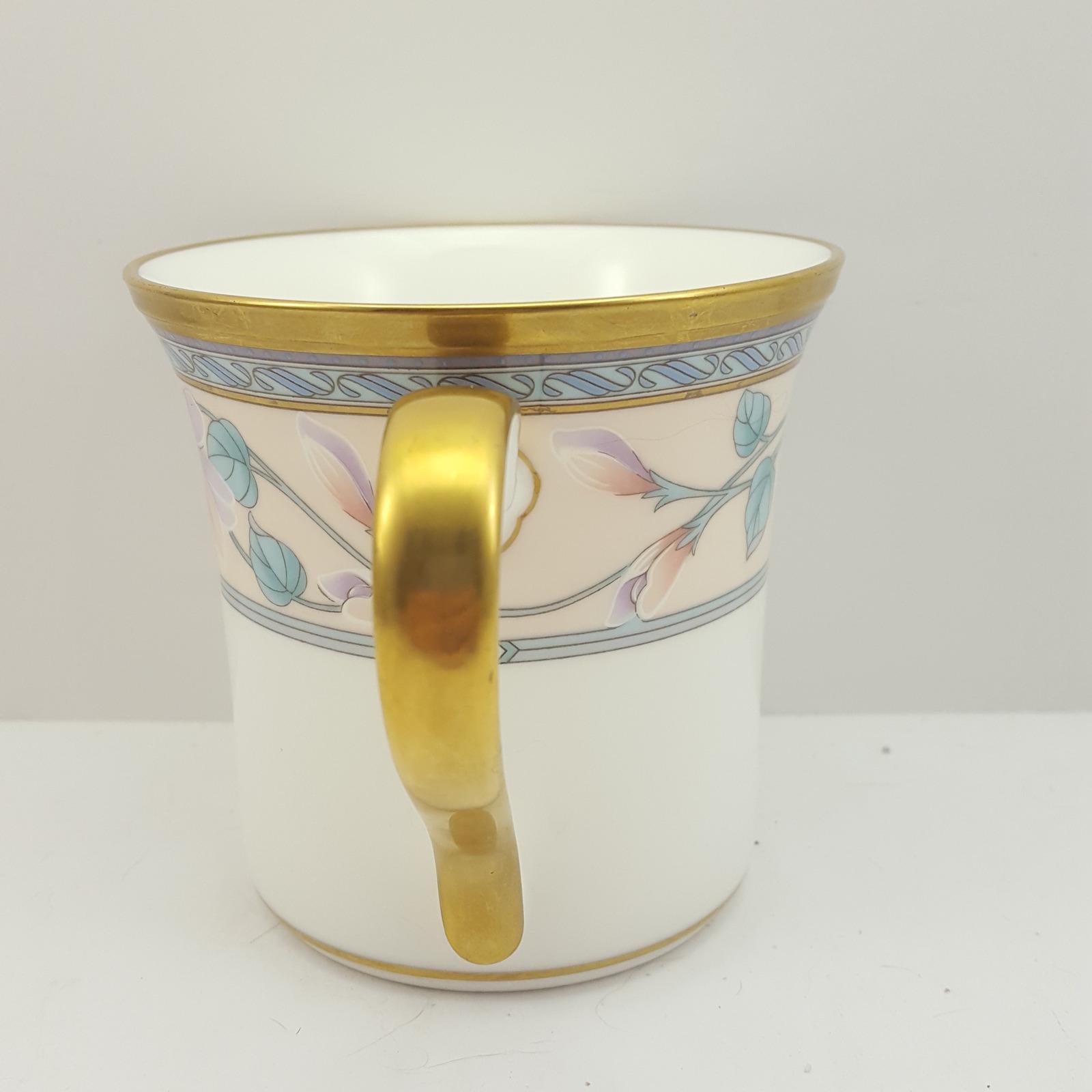 Noritake Embassy Suite Mug Bone China Pastel Flowers 12 oz