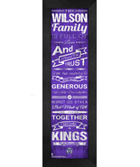 """Personalized Sacremento Kings """"Family Cheer"""" 24 x 8 Framed Print - $39.95"""