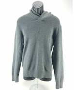$128 MK Michael Kors Long Sleeve Shawl-Collar Sweater Mens L Ash Melange... - $41.57