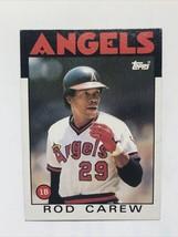 Rod Carew 1986 Topps #400 California Angels MLB Baseball Card - $1.39
