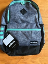 NEW NWT Adidas Core Backpack Tech Friendly Heather Gray Black Teal - $55.43