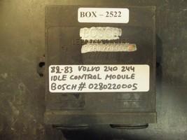 82 83 Volvo 240/244 Idle Control Module #0280220005 - $97.30