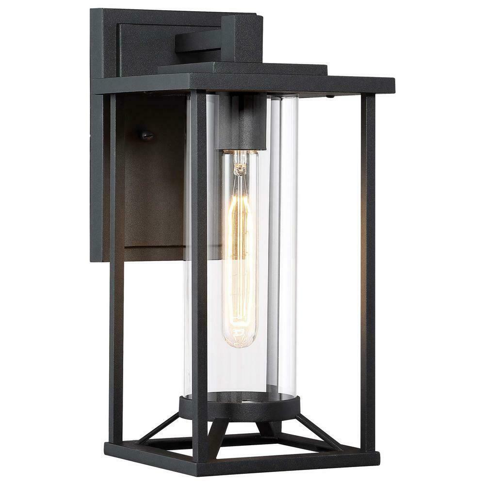 Great Outdoors Trescott 1- Light Black Outdoor Wall Lantern Sconce - $118.79