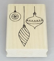 A Muse Artstamps Elegant Ornaments Wood Mounted Rubber Stamp image 1