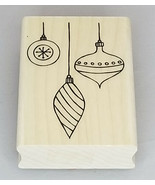 A Muse Artstamps Elegant Ornaments Wood Mounted Rubber Stamp - $8.95