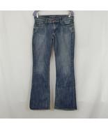 Guess Premium Foxy Flare Stretch Womens Distressed Blue Denim Jeans Size 30 - $17.77