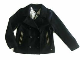 New $99 Tommy Hilfiger Girls Black Wool Coat Kids Sz S 7-9 Years Winter Jacket - $44.45